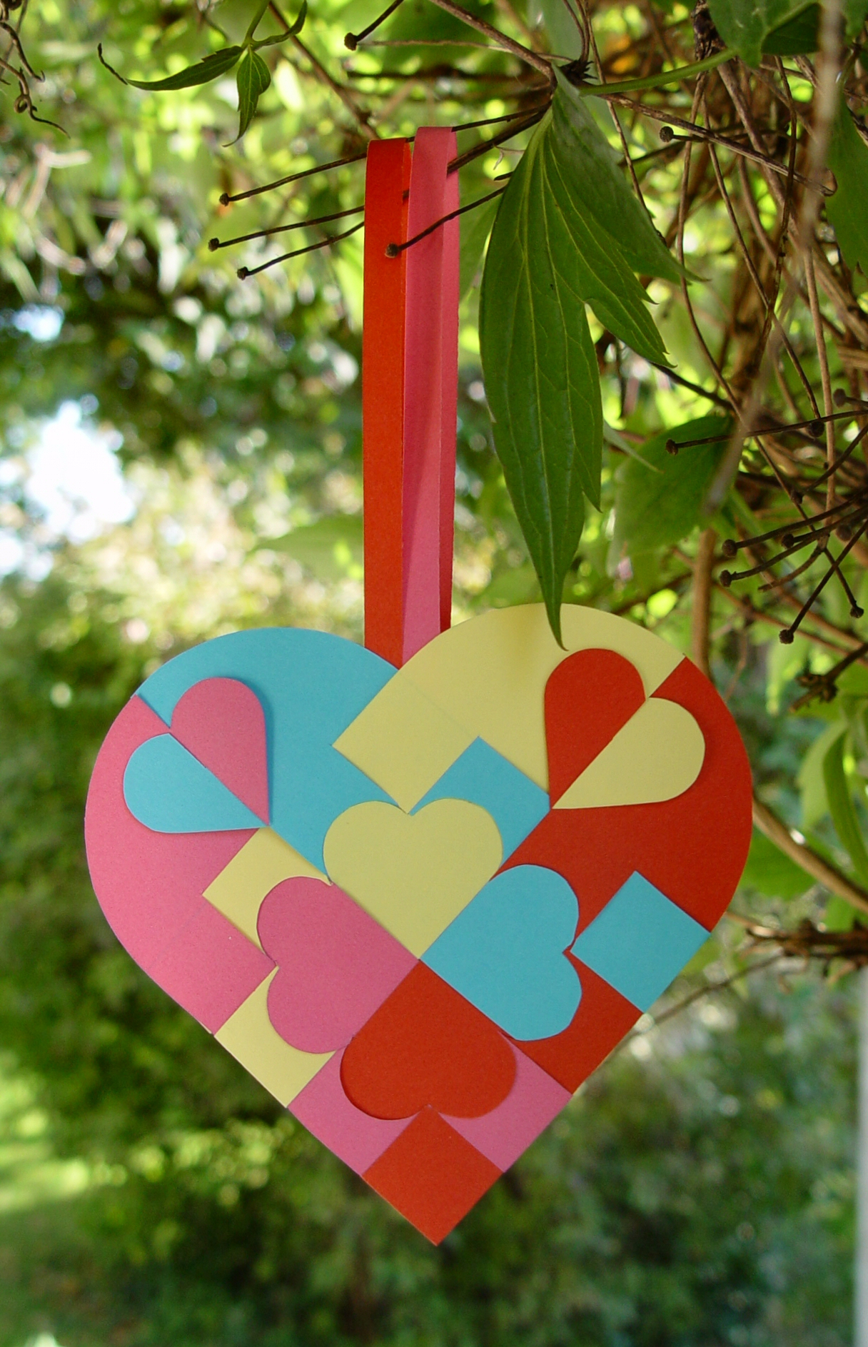 Why not make a traditional heart using four different colours? just