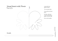 joined heart with flower 1a