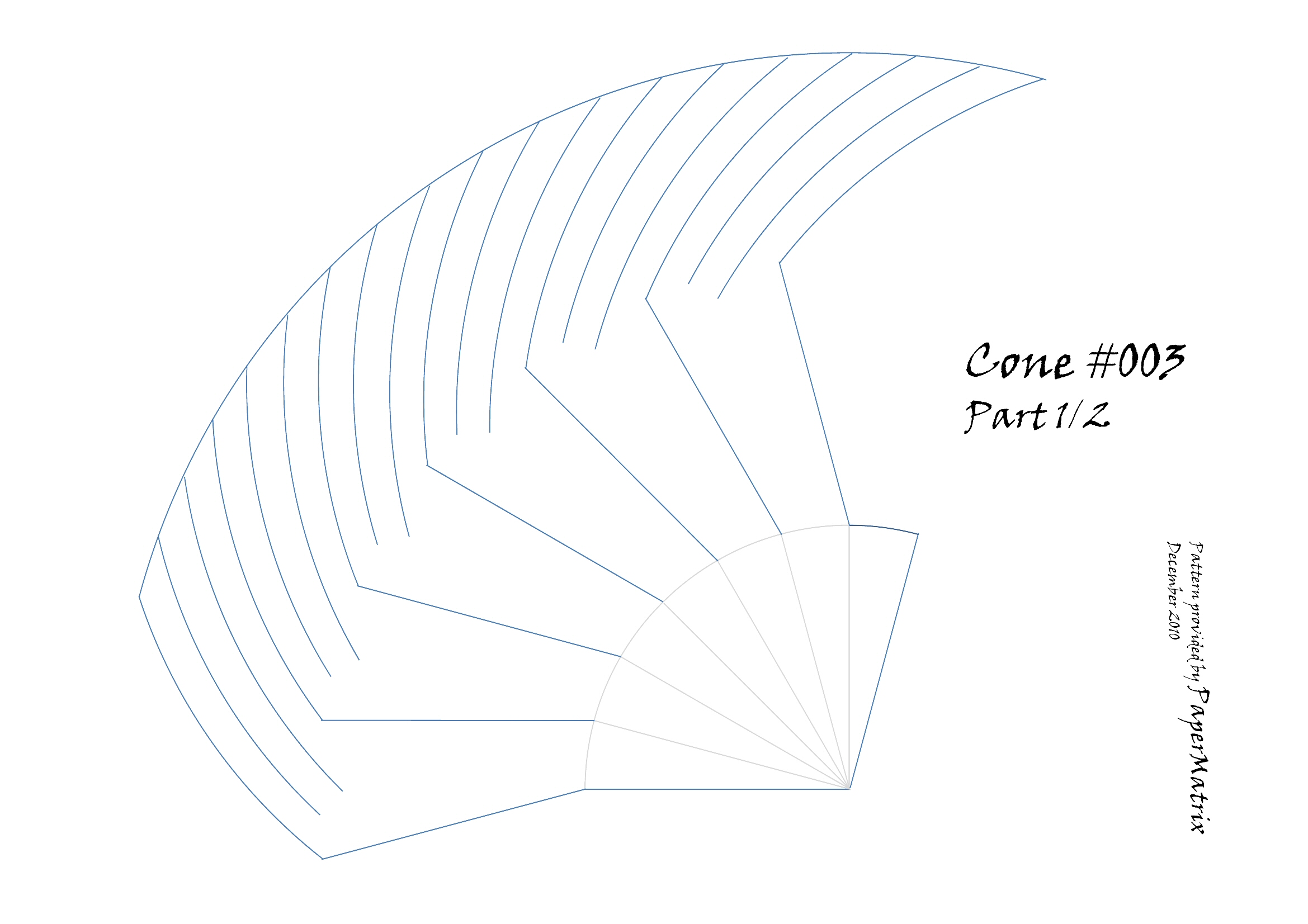 download cone layout flat pattern calculator