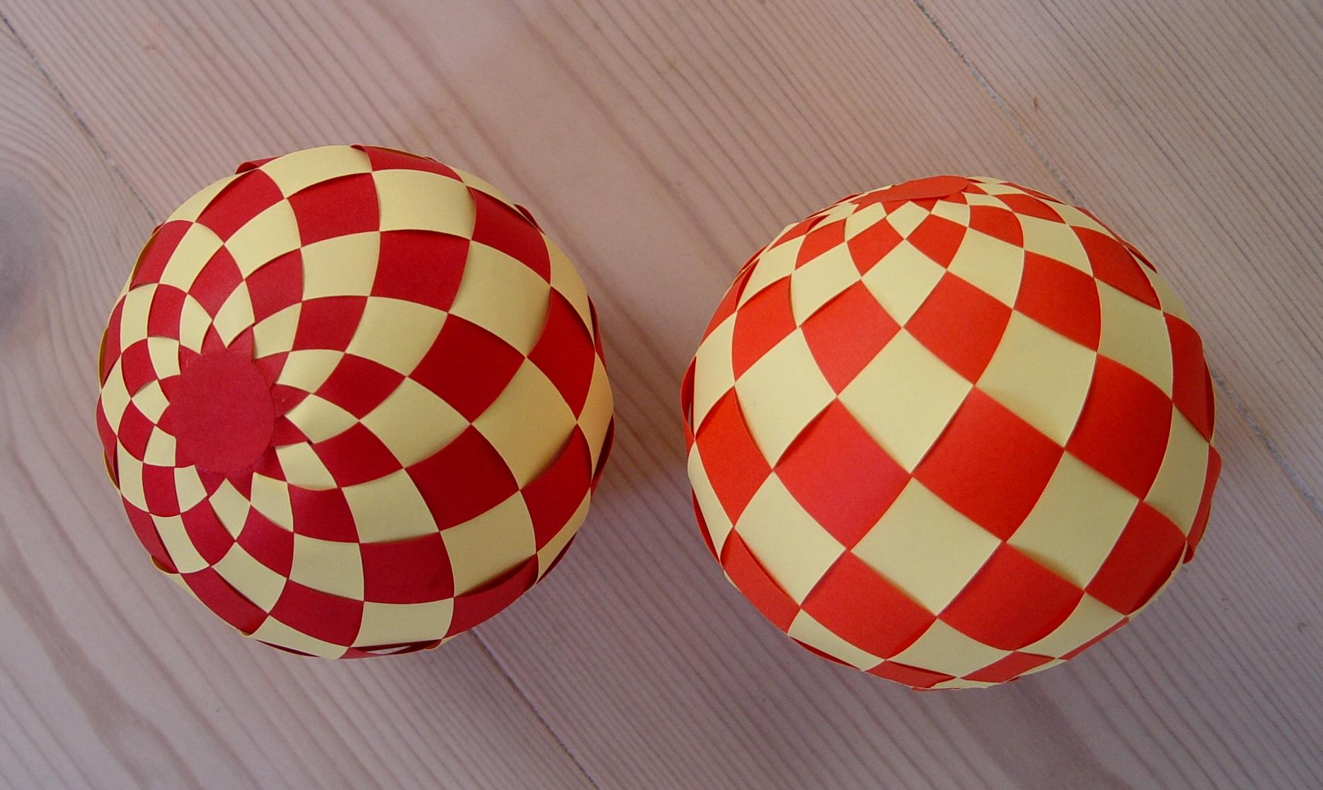 Бумажные шары из бумаги самые простые