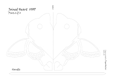 joined heart with butterfly pattern 2