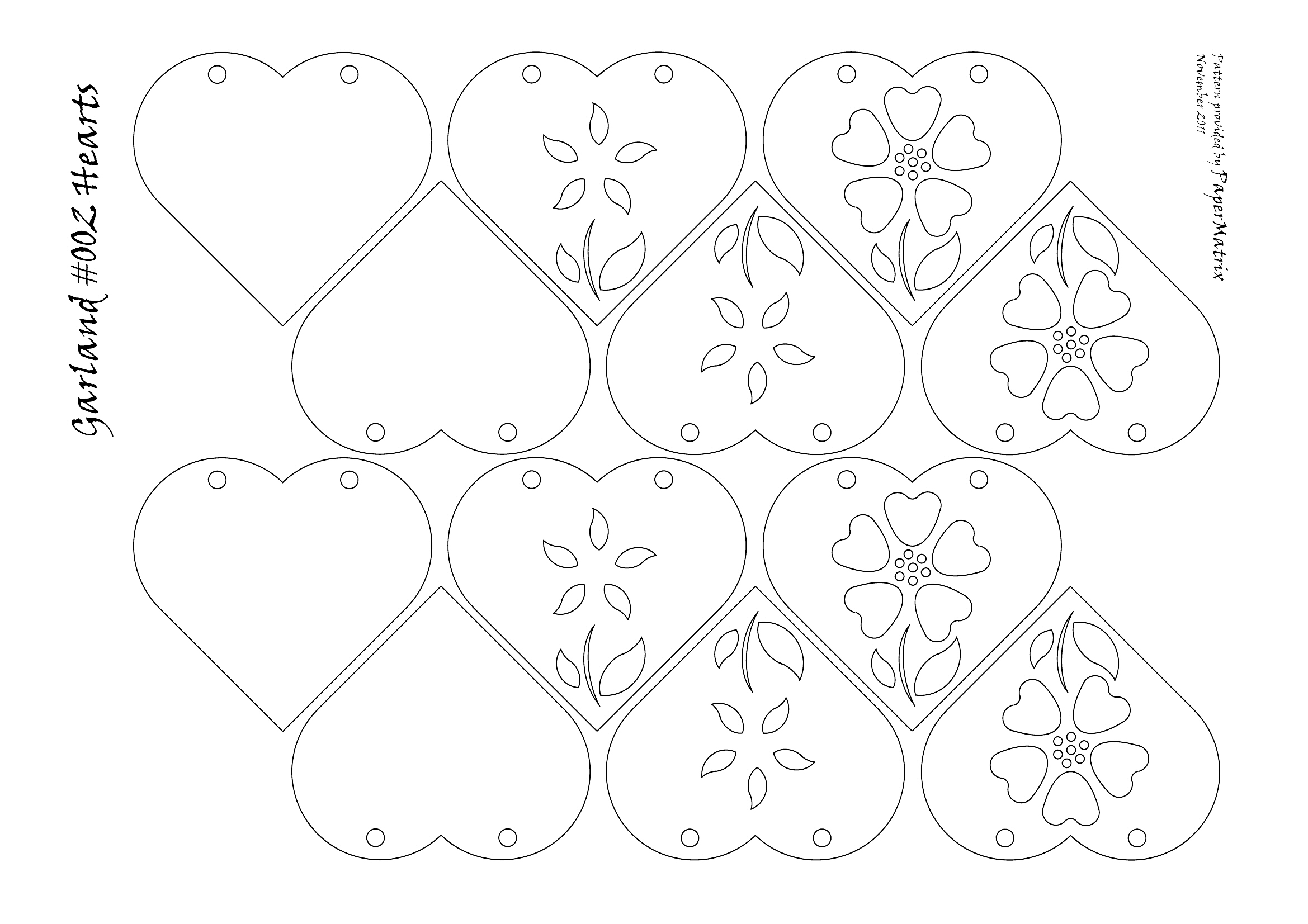 Heart Garlands Papermatrix