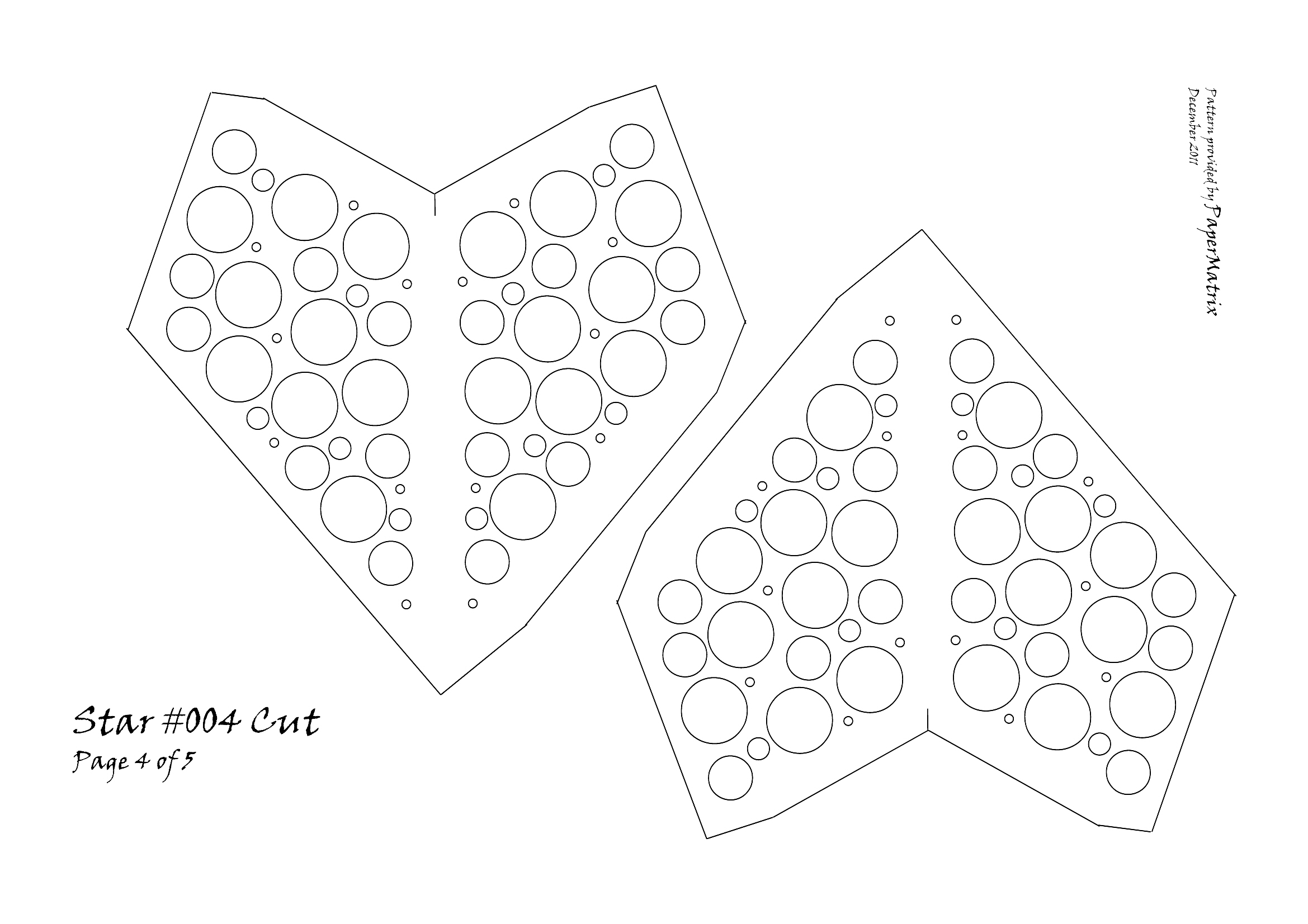 Star 004 cut papermatrix for Paper star cut out template