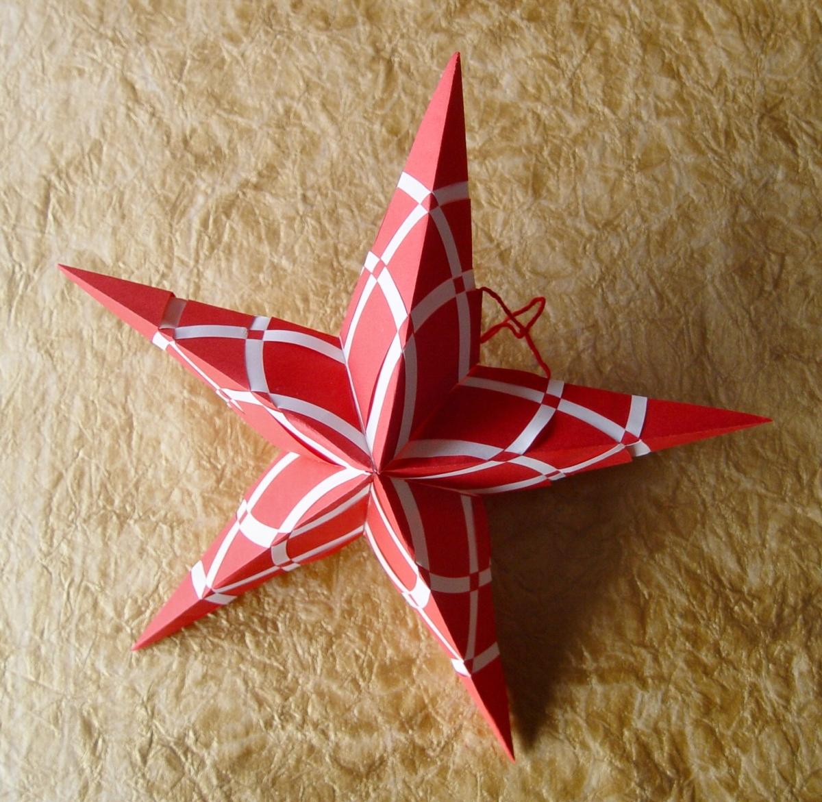 Homemade Christmas Star Ornament: Star #005 Woven