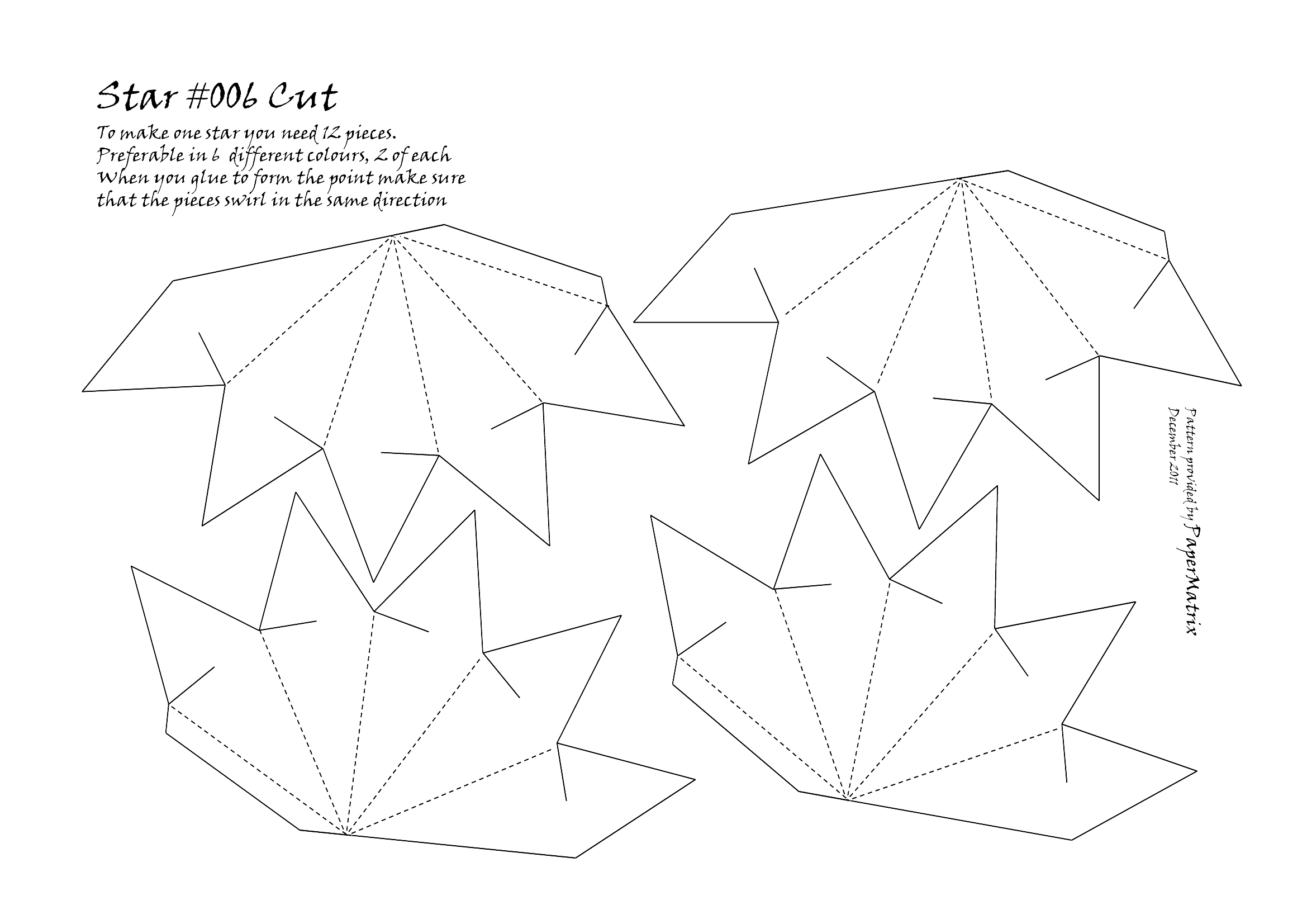 Pin paper star template on pinterest for Paper star pattern template