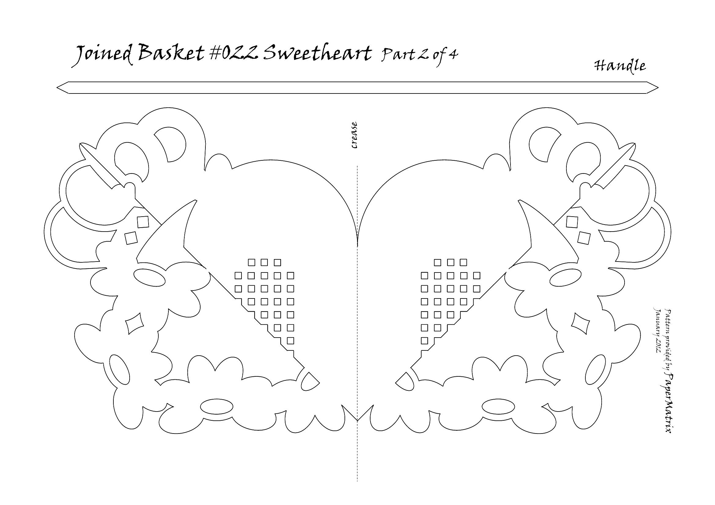 joined basket 022 sweetheart papermatrix