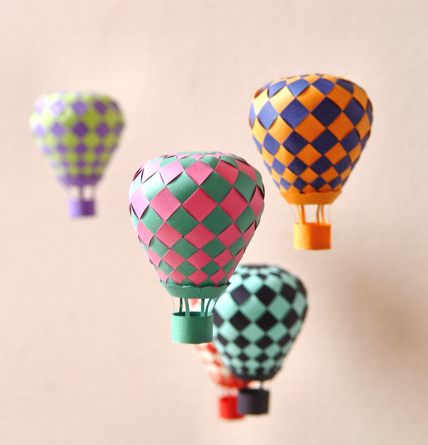 Beautiful Balloon Paper Craft - Papermodeler