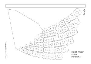 Cone 023 8 deg 6 arms clover pattern 1