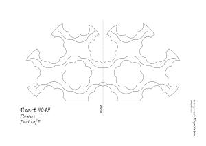 Heart 043 Flower pattern 1