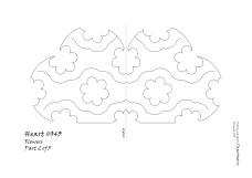 Heart 043 Flower pattern 2