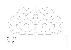 Heart 043 Flower pattern 3
