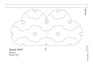 Heart 043 Flower pattern 4