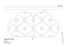 Heart 044 stars pattern 3