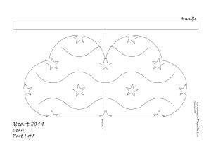 Heart 044 stars pattern 4