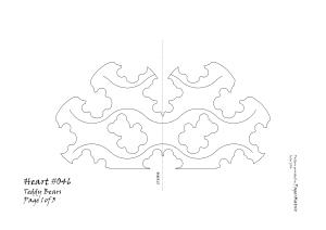 Heart 046 teddy pattern 1