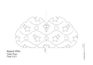 Heart 046 teddy pattern 2