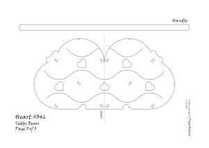 Heart 046 teddy pattern 3