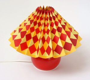 Lamp Shade with Squares