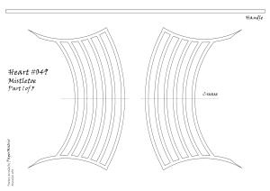 Heart 049 mistletoe pattern 1