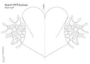 Heart 049 mistletoe pattern 4