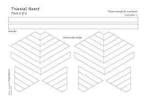 Triaxial heart 2 pattern