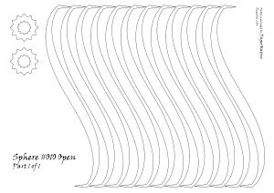 Sphere #010 Open pattern