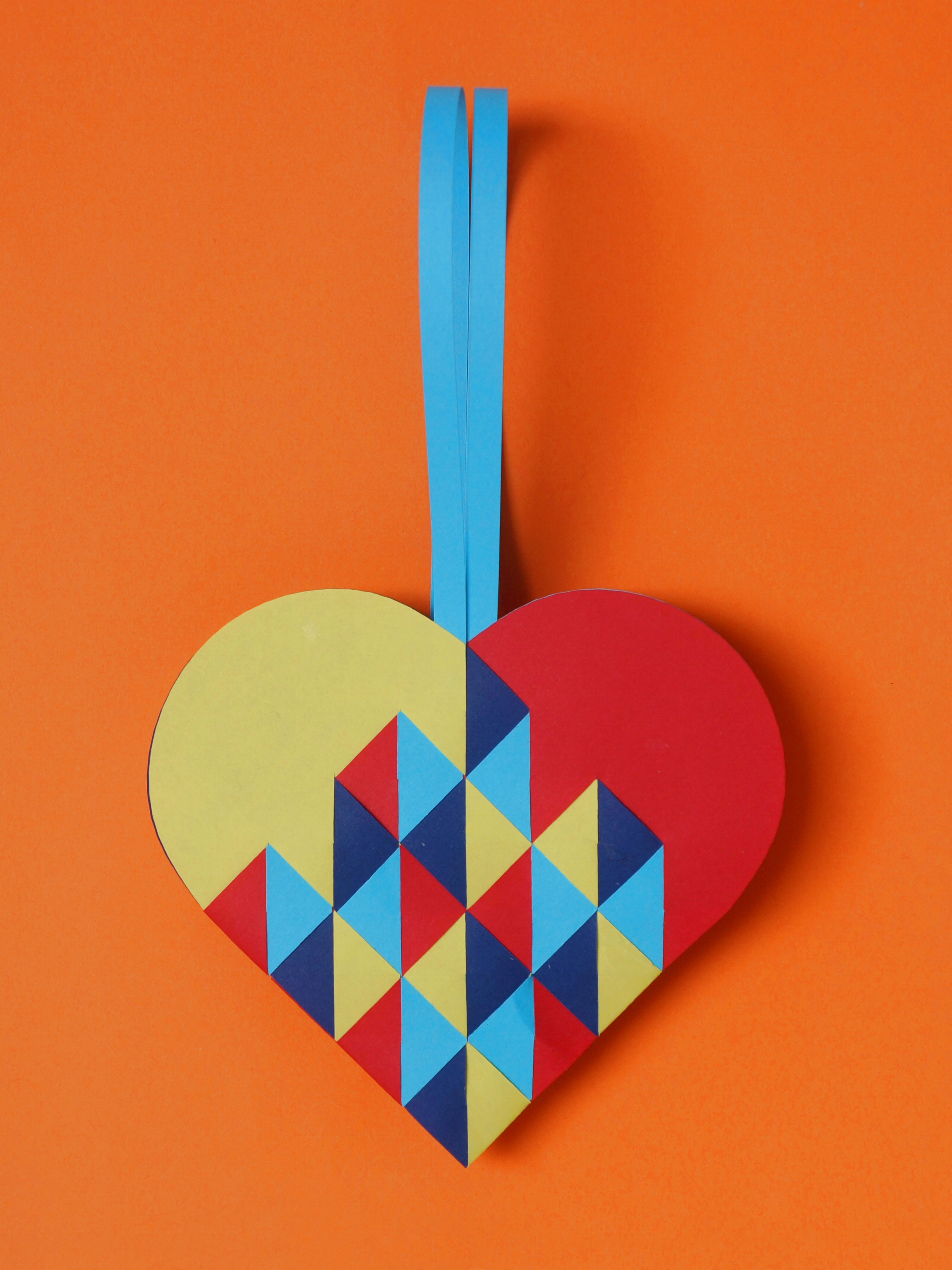 Heart #050 Triangles In 4 Colours