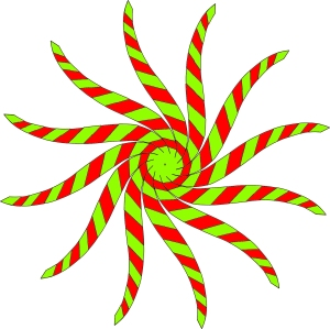 C08 part 2 on part 1 all twirled mirrored green on red